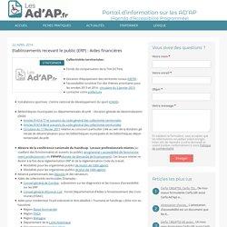 Etablissements recevant le public (ERP) : Aides financières-Les Ad'ap