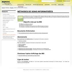 AQESSS - Association québecoise d'établissements de santé et de services sociaux > Méthodes de soins informatisées