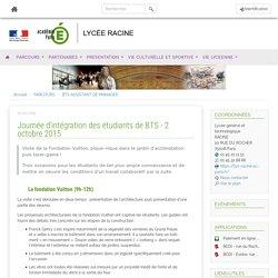 Etablissements de Paris - Journée d'intégration des étudiants de BTS - 2 octobre 2015