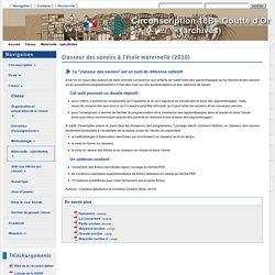 Etablissements de Paris - Classeur des savoirs à l'école maternelle (2010)