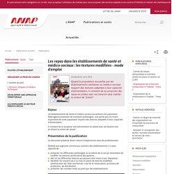 ANAP -Les repas dans les établissements de santé et médico-sociaux : les textures modifiées - mode d'emploi