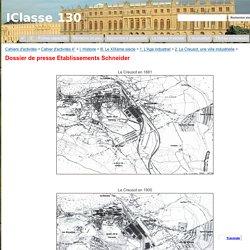 Dossier de presse Etablissements Schneider - IClasse 130