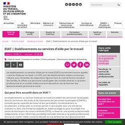 ESAT : établissements ou services d'aide par le travail