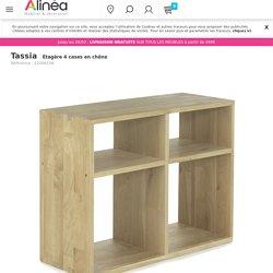 Étagère 4 cases en chêne - Tassia - - Décoration intérieur