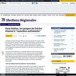 """Pour Fabius, les propos de Frêche étaient à """"caractère antisémit"""