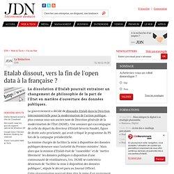 Etalab dissout, vers la fin de l'open data à la française?