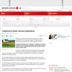 L'étalement urbain menace l'agriculture
