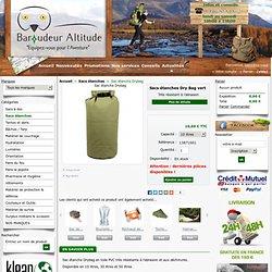 Sac étanche Dry Bag vert - sac étanche survie, bushcraft