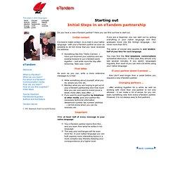 eTandem Europa - First Steps - English