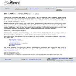 ETANOT : ETAt des NOTaires de Paris