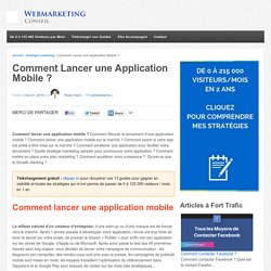 ▶ 10 Etapes pour Lancer une Application Mobile [Guide Complet]