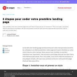 5 étapes pour coder votre première landing page