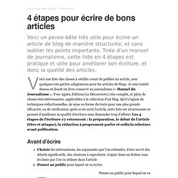 4 étapes pour écrire de bons articles – BLOmiG