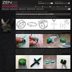 Les étapes de la fabrication à la main des bijoux homme en argent - Zense