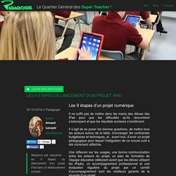 Les 9 étapes de lancement d'un projet iPad - Padagogie