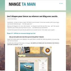 Les 5 étapes pour lancer ou relancer son blog avec succès