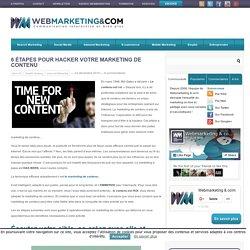 6 étapes pour hacker votre marketing de contenu