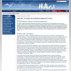 1850-1995 - Les étapes de la politique du logement en France