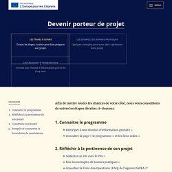 Les étapes à suivre - Programme L'Europe pour les Citoyens