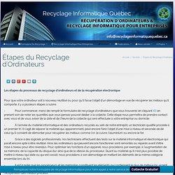 Étapes du Recyclage d'Ordinateurs