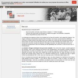 Archives de l'Etat en Belgique - Etat civil