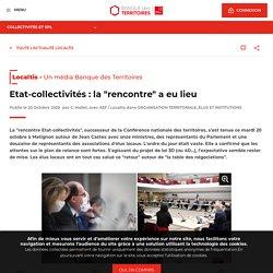 """Etat-collectivités : la """"rencontre"""" a eu lieu"""