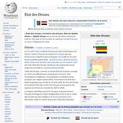 1921-1936 Syrie État druze créé & dissous par la France