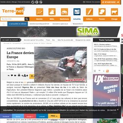 AFP 18/02/15 La France devient une « petite » puissance bio en Europe