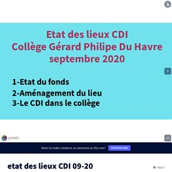 etat des lieux CDI 09-20 by elsa.bezu on Genially