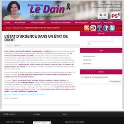 L'éTAT D'URGENCE DANS UN éTAT DE DROIT