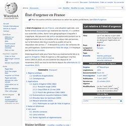 État d'urgence en France