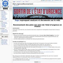 État urgence/Recensement