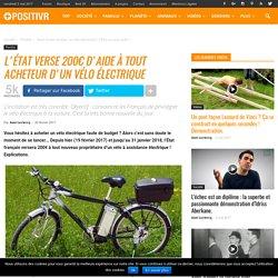 L'État verse 200€ d'aide à tout acheteur d'un vélo électrique