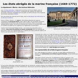 Etats abrégés de la marine française