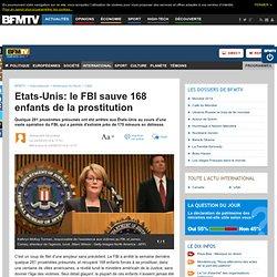 Etats-Unis: le FBI sauve 168 enfants de la prostitution