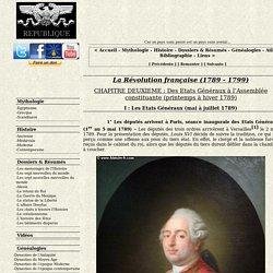 Les Etats Généraux (mai à juillet 1789)