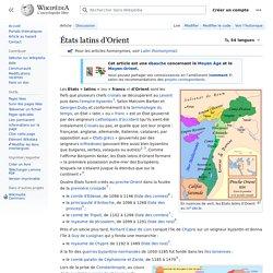 États latins d'Orient