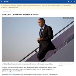 Obama veut mise sur le solaire