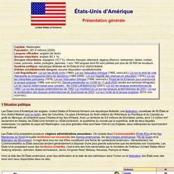 États-Unis: présentation générale