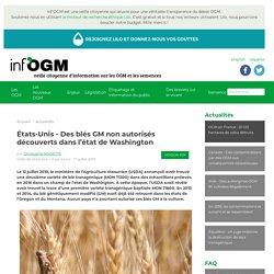 États-Unis - Des blés GM non autorisés découverts dans l'état de Washington