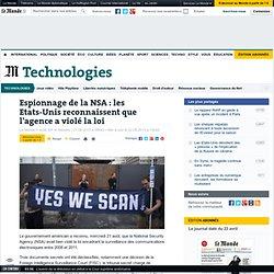 Les Etats-Unis reconnaissent que la NSA a bien violé la loi
