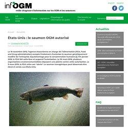 États-Unis : le saumon OGM autorisé - Inf'OGM