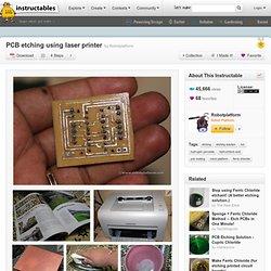 PCB etching using laser printer