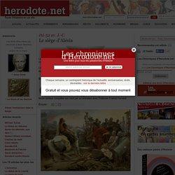 Le siège d'Alésia- Hérodote.net