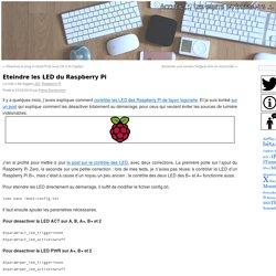 Eteindre les LED du Raspberry Pi - Le journal du lapin