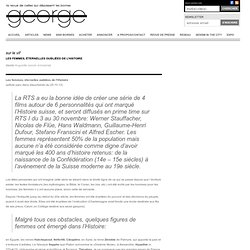 Les femmes, éternelles oubliées de l'Histoire : George Magazine