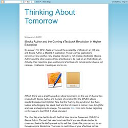 iBooks Author and the Coming eTextbook Revolution in Higher Education