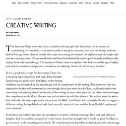 "Etgar Keret: ""Creative Writing"""
