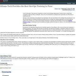 Ethan's Tech – Best DevOps Training Classes in Pune