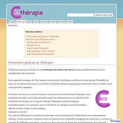 Etherapie - Etherapie™